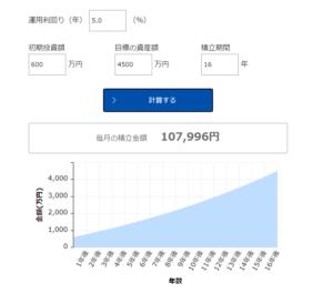 セミリタイア4500万円16年